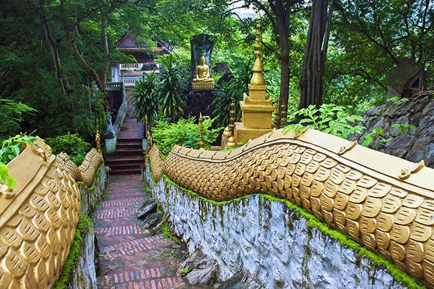Entrance way to Mount Phousi