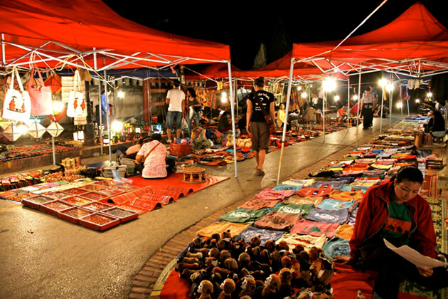 Luang Prabang Night Market Stalls