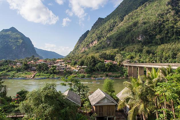 Lush green Nong Khiaw