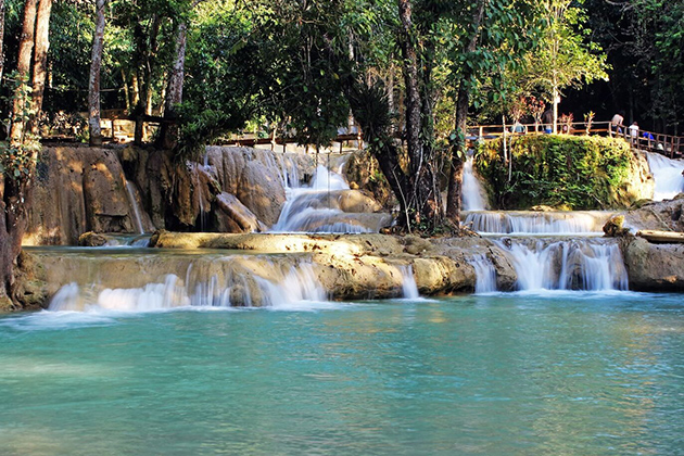 Tad Sae Waterfalls – The Turquoise Waterfall near Luang Prabang