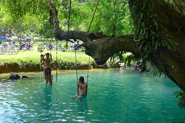 The Blue Lagoon vang vieng laos