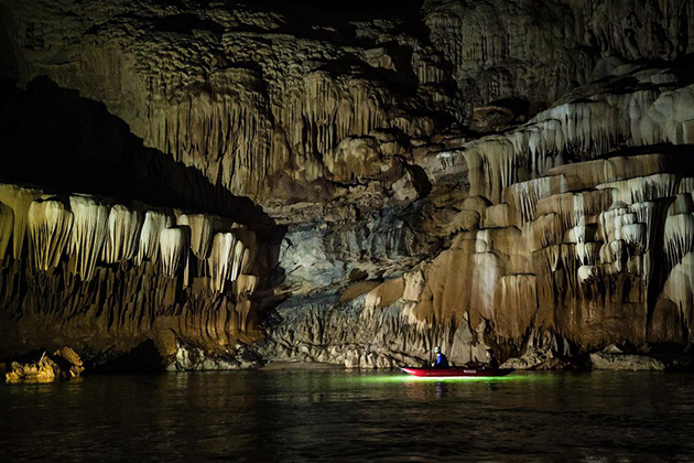 The Underground Tham Khuon Xe Cave in Laos