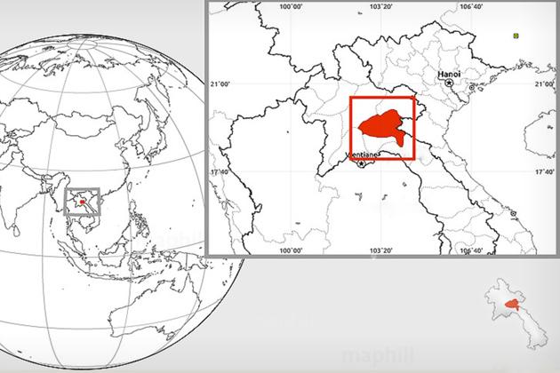 plain of jars map Xiangkhouang