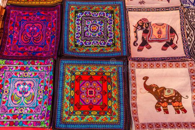 different qualities of laos silk