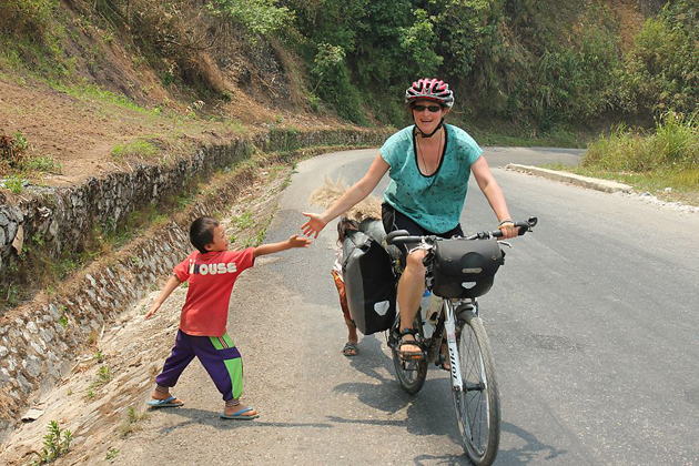 Laos cycling route