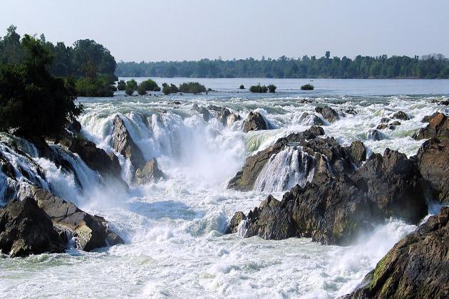 Phapheng Waterfall, Siphadone champasak laos tours