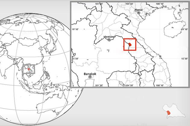 Thakhek laos map