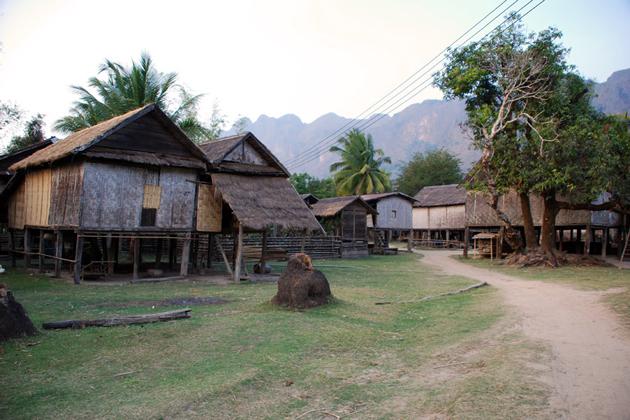 ban kong lo village near tham kong lor cave