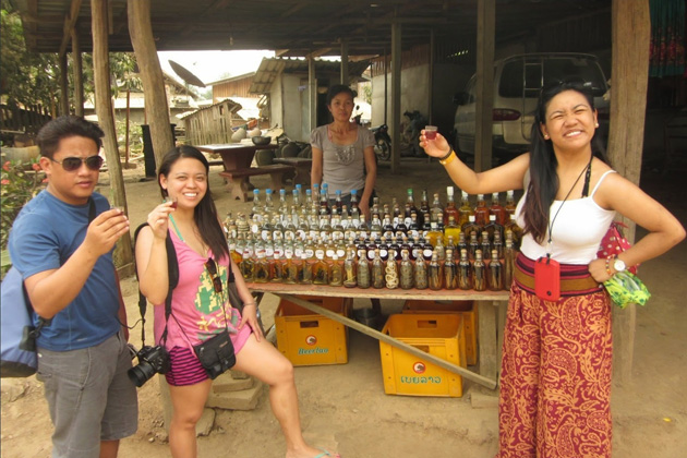 laos whiskey village