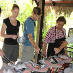 during the vientiane traditional cooking class