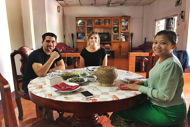 enjoy your dish from vientiane traditional cooking class