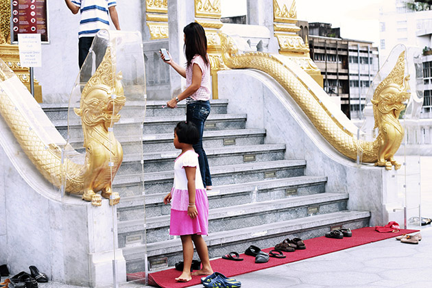Avoid Wearing Your Shoes inside a Home or Temple Laos