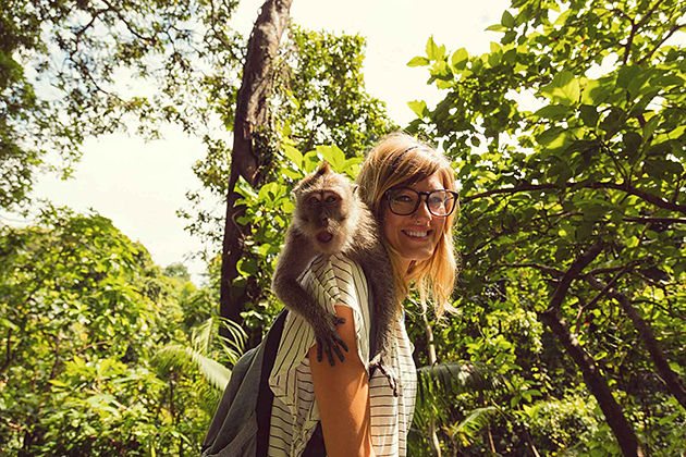 Monkey Sanctuary in Laos