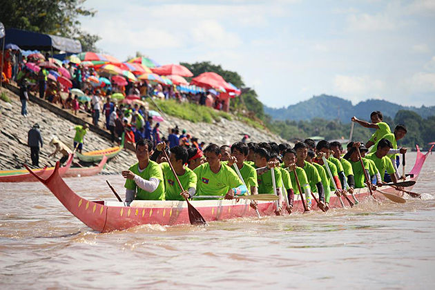 laos boat racing festival laos tours