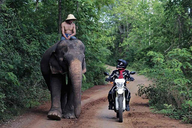 motor riding in laos