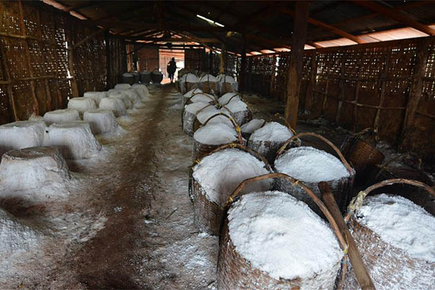 traditional salt production in Laos
