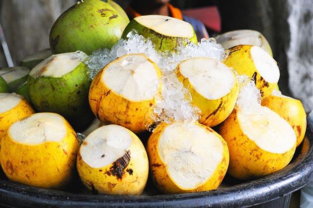 coconuts in Vang Vieng