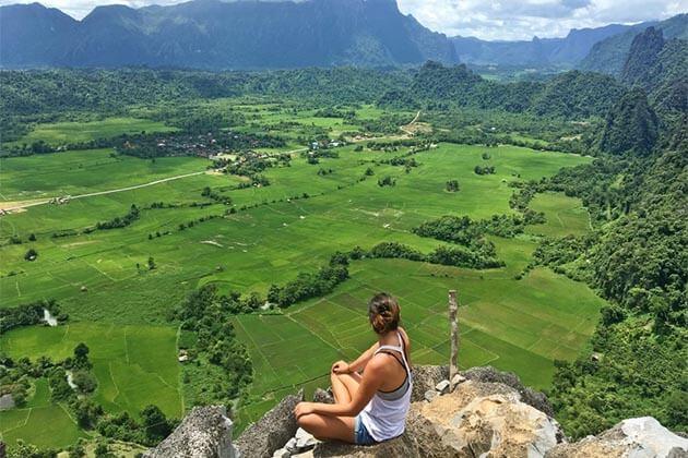 trekking-to-in-Vang-Vieng, Travel in Laos