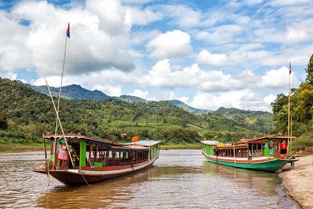 Boat along the Mekong