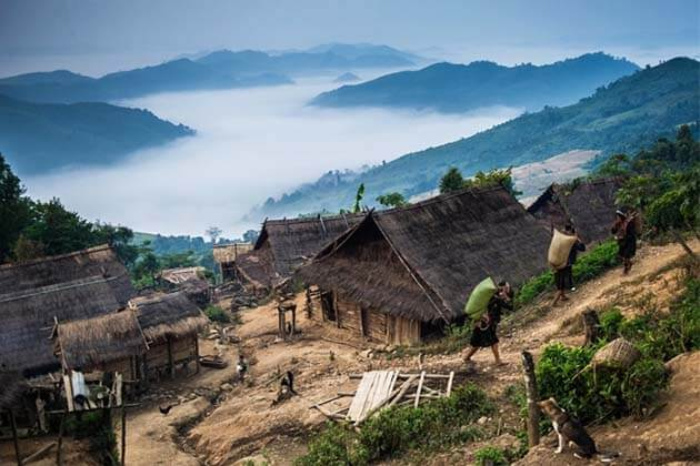 Lantern-hill-tribe-villages, Laos package
