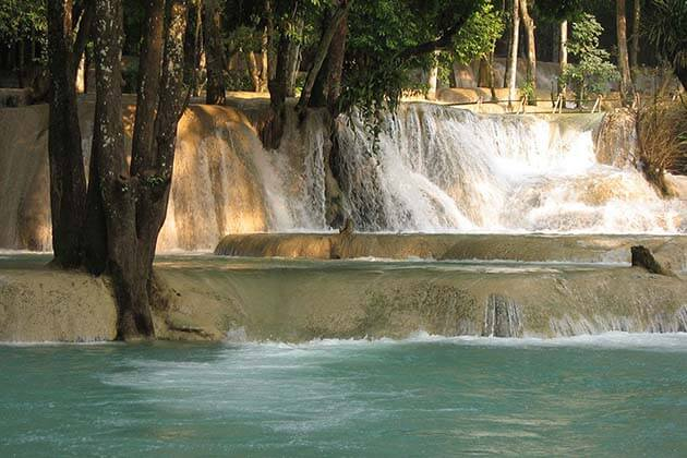 Tad Sae waterfall, Laos Vacation