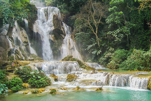 Kuang-Si-falls, Travel in Laos