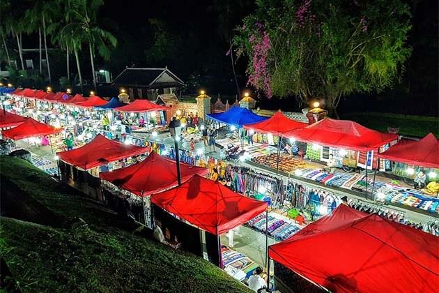 Luang Prabang Night Market, Luang Prabang Tours