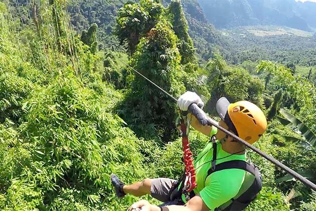 Ziplining in Laos, Laos Tour Vacation