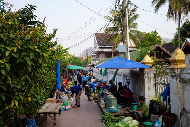 Market in the Morning, Luang Prabang Tours