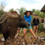 living land rice farm experience, Laos family vacations