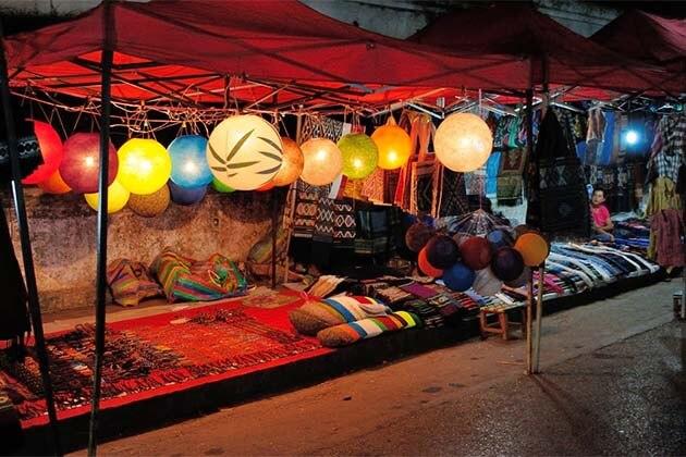 Luang Prabang night market, Laos trips