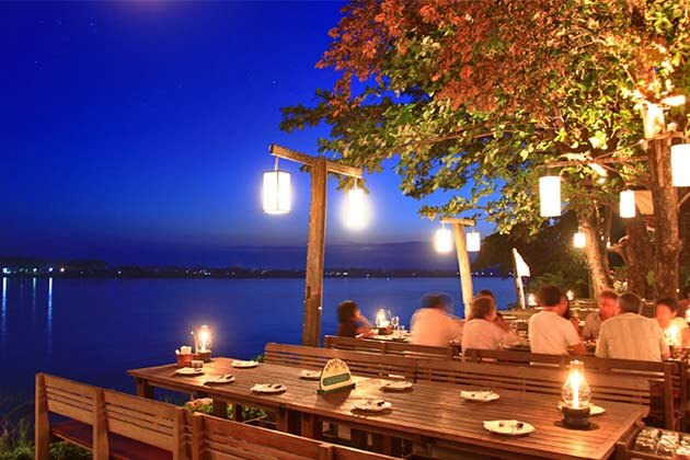 Kong View restaurant in Laos, Laos travel package