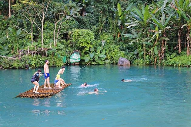 Blue Lagoon in Laos, Tour in Laos