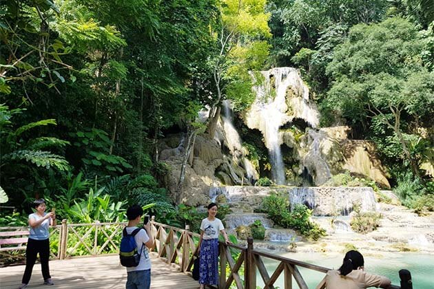 Kuang Si Waterfalls in Laos, local tour in Laos