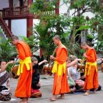 Laos Alms giving, Vacations in Laos