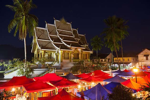 Luang Prabang night market, Laos Vacations