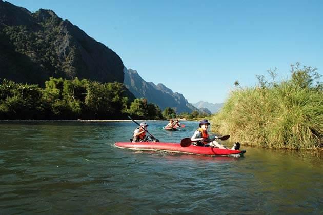 Kayaking in Laos, Laos Adventure tours
