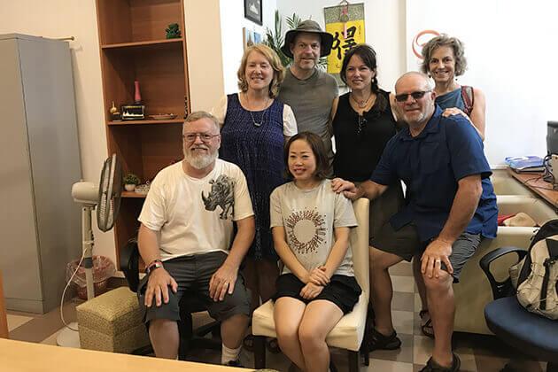 Our Client visit our company, Laos Tours